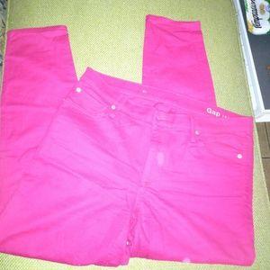 NWOT GAP 1969 hot pink true skinny jeans SZ12